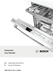 Bosch SHE68TLxUC Operating instructions