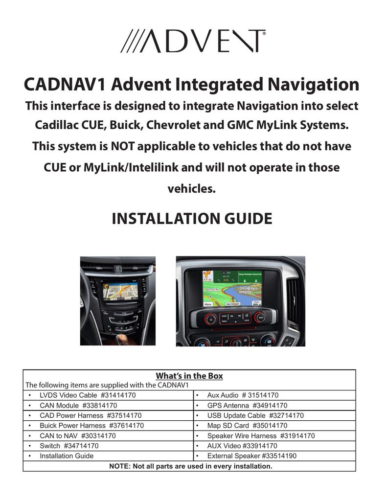 Cadillac CUE Installation guide