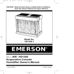 Emerson HD13003 Owner`s manual