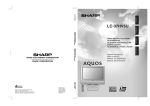 Sharp Aquos LC 37HV6U Operating instructions