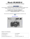 Ricoh XR-X Specifications
