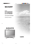 Sharp LC-32AX3X Specifications