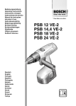 Bosch 4 VE-2 Operating instructions
