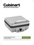 Cuisinart WAF-100 - Belgian Waffle Maker Operating instructions
