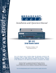 Broadcast SRC-8 III Specifications