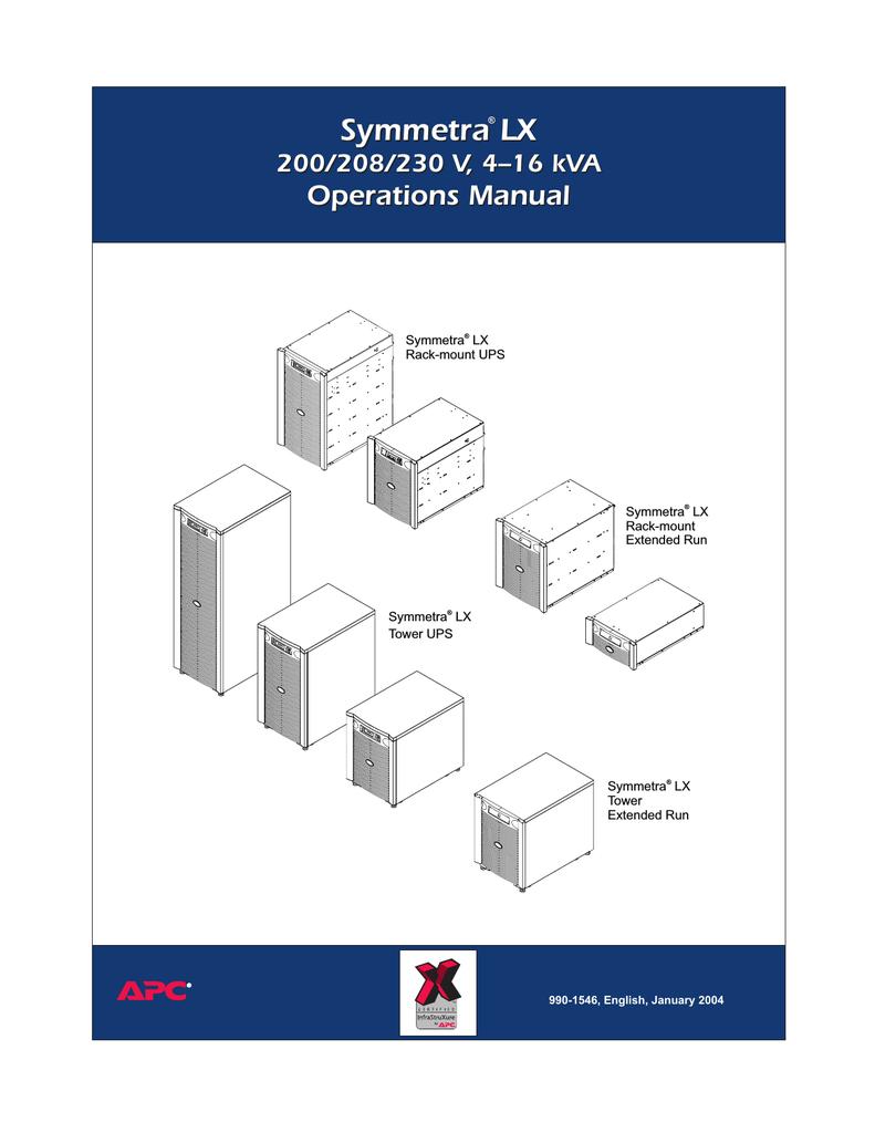 APC LX Service manual