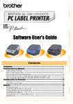 Brother P-touch QL-500 User`s guide