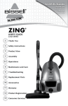 Bissell ZING 22Q3 SERIES User`s guide