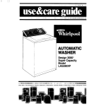 Whirlpool LA5590XP Operating instructions