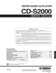 Yamaha CD-S2000 Service manual