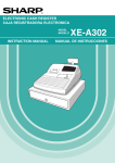 Sharp XE A302 - Cash Register Instruction manual