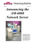 Alpha Microsystems AM-6060 Specifications