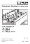 Operating and installation instructions Frost free freezer FN