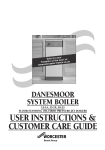 Worcester DANESMOOR Operating instructions