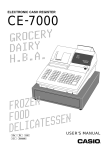 Casio CE-7000 User`s manual