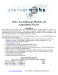 Roku Soundbridge Module v8 Application Guide