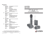 Azden 30BT Specifications