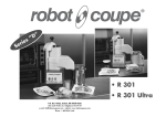 Robot Coupe R 301 Ultra Operating instructions
