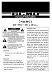 Elmo QNW4000 Instruction manual