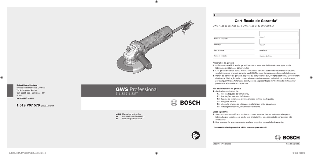 Carbon Brushes For Bosch GCO 14-1 Cutoff Saw