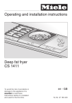 Operating and installation instructions Deep fat fryer CS 1411
