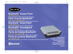 Belkin F8T030 - Bluetooth Access Point User manual