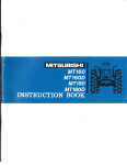 Mitsubishi MT180 Instruction manual