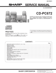 Sharp CD-C482 Service manual