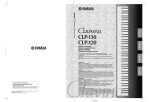 Yamaha CLP-50 Owner`s manual