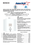 Bosch AQUASTAR 125B NGL   operati Operating instructions