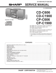 Sharp CP-C405 Service manual