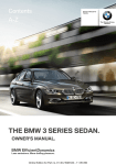 BMW SERIE 3 Owner`s manual