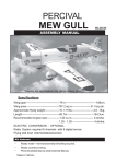 Seagull Models PERCIVAL MEW GULL Specifications