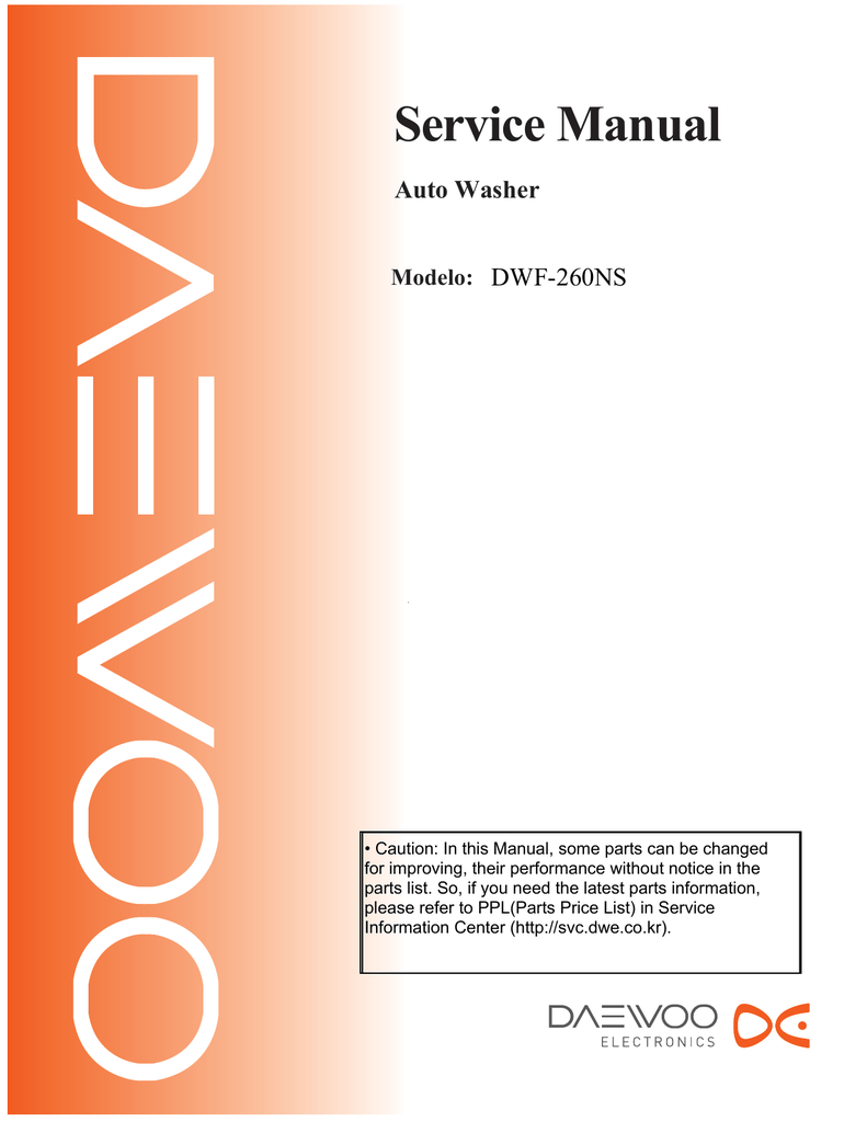 Daewoo Dwf 5590d Service Manual