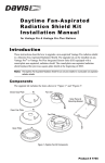 DAVIS Daytime Fan Aspirated Radiation Shield Kit Installation manual