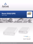 Campbell RavenXTG GPRS/EDGE User guide