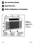 Whirlpool ACQ254XF0 Operating instructions