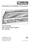Miele GT 263 ES Operating instructions