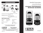 Vita-Mix 100 VAC Operating instructions