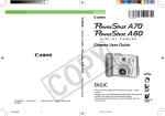 Canon PowerShot A60 User guide