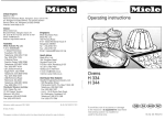 Miele H 4200 Operating instructions
