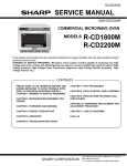 Sharp CD2200M Service manual