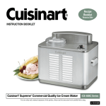 Cuisinart ICE-50BCC Series Specifications