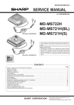 Sharp MD-MS721H Service manual