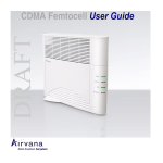 Airvana CDMA Femtocell User guide