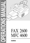Brother FAX 2600 Specifications