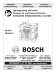 Bosch PB360S-C Specifications