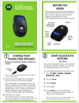 Motorola T350 User`s guide