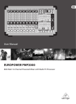 Behringer Power Mixer User manual