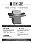 Char-Broil 463420508 Product guide